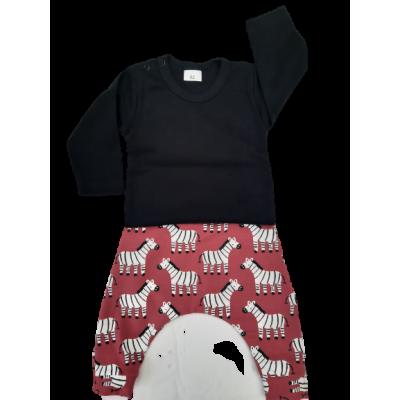 Kledingset  Zebra met basic shirt