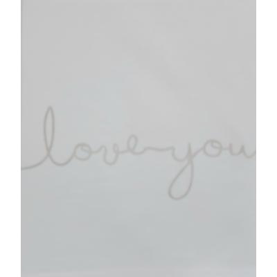 Jollein Laken Love you 120x150cm nougat