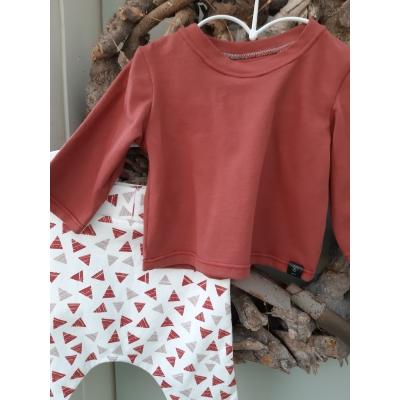 Kledingset herfst en roestbruin shirt