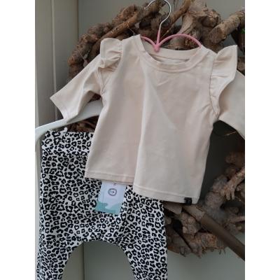 Kledingset tijger en shirt roezel  ecru