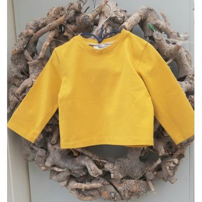 t-shirt oker geel lange mouw