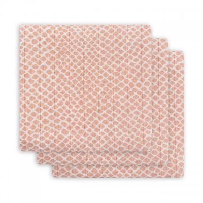 Jollein Monddoekje hydrofiel Snake pale pink (3pack)