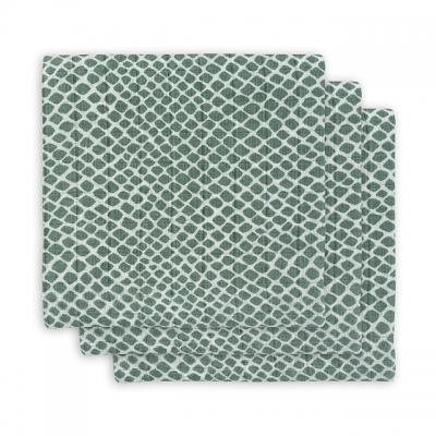Jollein Monddoekje hydrofiel Snake ash green (3pack)