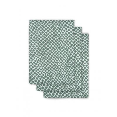 Jollein washandje hydrofiel Snake ash green (3pack)