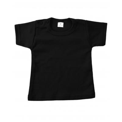t-shirt zwart met korte mouw