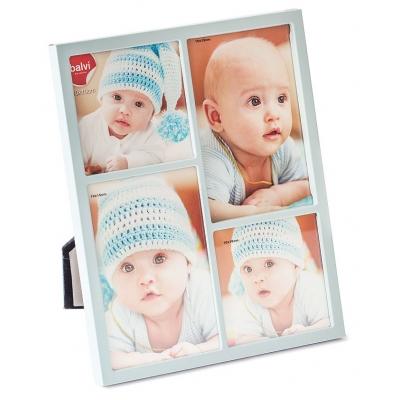 Baby fotolijst petit blauw 4 foto's