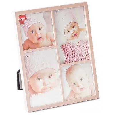 Baby fotolijst petit roze 4 foto's