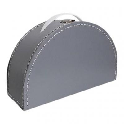 Koffertje zilver grijs