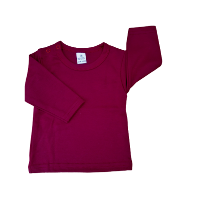 t-shirt bordeaux rood
